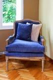 Blauwe leunstoel Royalty-vrije Stock Afbeeldingen