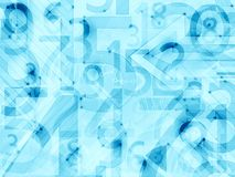 Blauwe lichte abstracte aantallenachtergrond Stock Afbeeldingen
