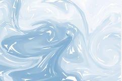 Blauwe lichte abstracte achtergrond De texturen van de inktmarmering Hand getrokken marmeren illustraties, het document van ebrua stock illustratie