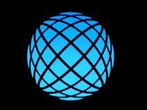 Blauwe lichte bol Stock Foto