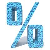 Blauwe lichte donkere vierkante de tegelsdoopvont van het mozaïek ceramische glas Stock Foto's