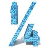 Blauwe lichte donkere vierkante de tegelsdoopvont van het mozaïek ceramische glas Royalty-vrije Stock Foto
