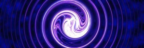 Blauwe lichte Draaikolk royalty-vrije illustratie