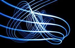 Blauwe lichte golven Stock Afbeelding