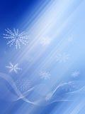 Blauwe Lichte Stralen Stock Foto