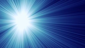 Blauwe lichte stralen Stock Afbeeldingen