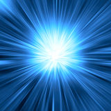 Blauwe lichte uitbarsting Stock Foto