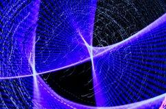 Blauwe lichten in motie bij nacht als abstracte achtergrond stock illustratie