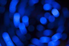 Blauwe lichtenachtergrond Stock Foto's