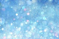 Blauwe lichtenachtergrond stock illustratie
