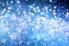 Blauwe lichtenachtergrond Stock Fotografie