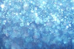 Blauwe lichtenachtergrond Stock Afbeelding