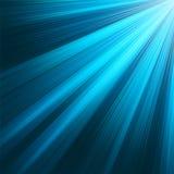 Blauwe lichtgevende stralen. EPS 8 vector illustratie