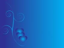 Blauwe liefdeachtergrond stock illustratie