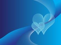Blauwe liefdeachtergrond vector illustratie