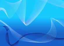 Blauwe Lijnen Stock Afbeelding