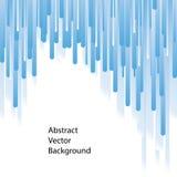 Blauwe lijnen abstracte vectorachtergrond stock illustratie