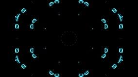 Blauwe lijnen, brieven op het digitale zwarte scherm royalty-vrije illustratie