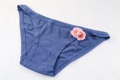Blauwe lingerie Stock Foto