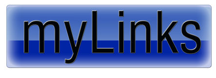 Blauwe links royalty-vrije illustratie