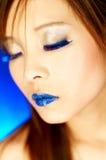 Blauwe Lippen royalty-vrije stock foto's