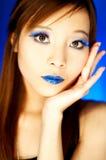 Blauwe Lippen royalty-vrije stock afbeelding