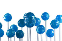 Blauwe lollys Royalty-vrije Stock Foto