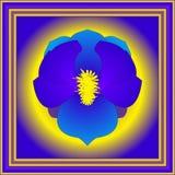 Blauwe lotusbloem in kader Royalty-vrije Stock Foto