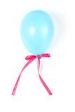 Blauwe luchtballon met lint. Royalty-vrije Stock Afbeelding