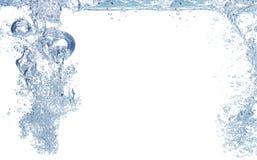 Blauwe luchtbellen in water Royalty-vrije Stock Foto's