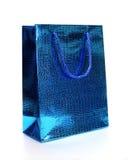 Blauwe luxe het winkelen zak Royalty-vrije Stock Afbeeldingen