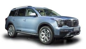 Blauwe Luxe SUV stock afbeeldingen