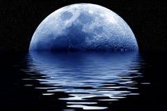 Blauwe maan Stock Fotografie