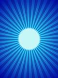 Blauwe maan backround, hoogtepunt, stralen Stock Afbeeldingen