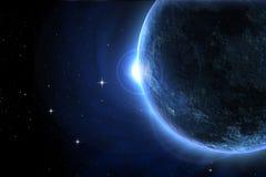 Blauwe maanverduistering Royalty-vrije Stock Fotografie