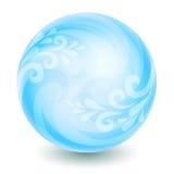 Blauwe magische bal Royalty-vrije Stock Foto