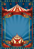 Blauwe magische circusaffiche Stock Foto's