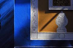 Blauwe majorelle Marokko. Stock Foto's