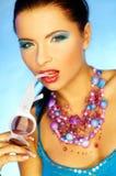 Blauwe Make-up stock foto's