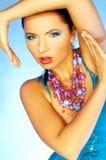 Blauwe Make-up royalty-vrije stock afbeelding