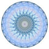 Blauwe mandala Stock Afbeelding