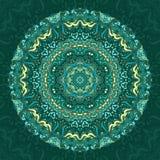 Blauwe mandala royalty-vrije illustratie
