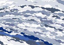 Blauwe Marmeren VectorTextiel vector illustratie