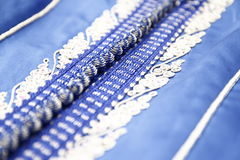 Blauwe Marokkaanse Kaftan Royalty-vrije Stock Foto's