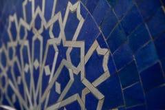 Blauwe Marokkaanse Zellige Royalty-vrije Stock Fotografie