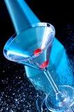 Blauwe martini Stock Foto's