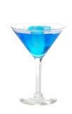 Blauwe martini met ijs Stock Fotografie