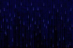 Blauwe matrijs geproduceerde computer als achtergrond Stock Afbeelding