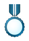 Blauwe medaille Royalty-vrije Stock Afbeelding