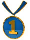 Blauwe medailletoekenning Royalty-vrije Stock Afbeeldingen